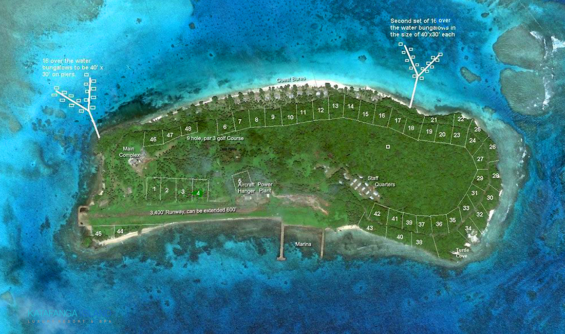 Katafanga Island Aerial Plan View