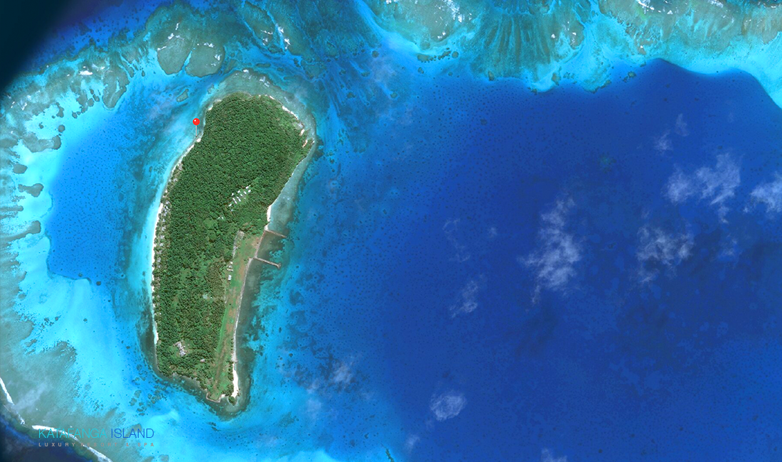 Katafanga Island Aerial View - Close Up