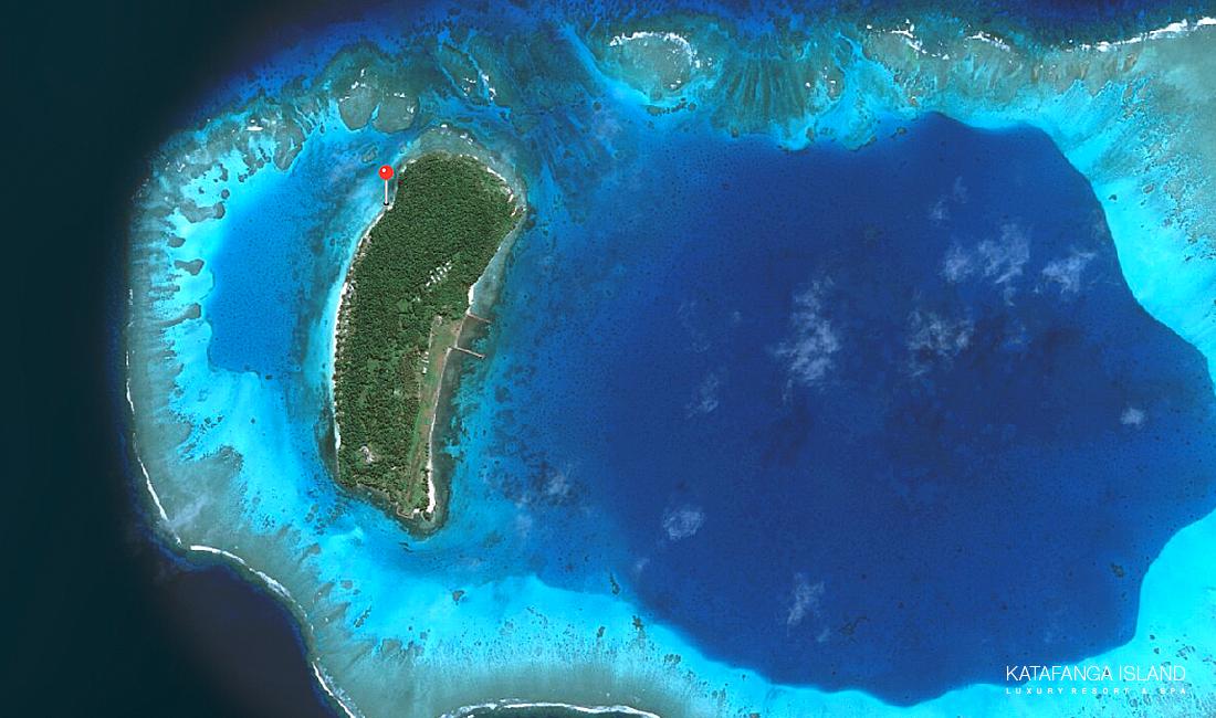 Katafanga Island Aerial View