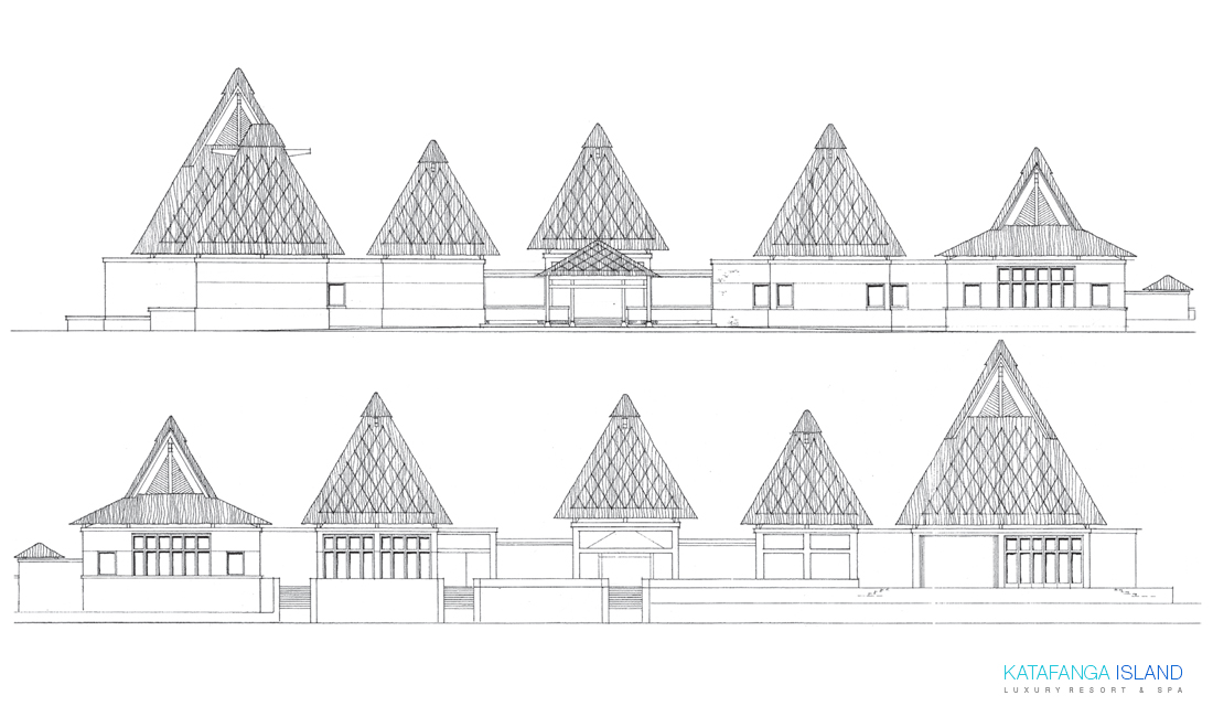 Main Building Elevation - Front and Back View