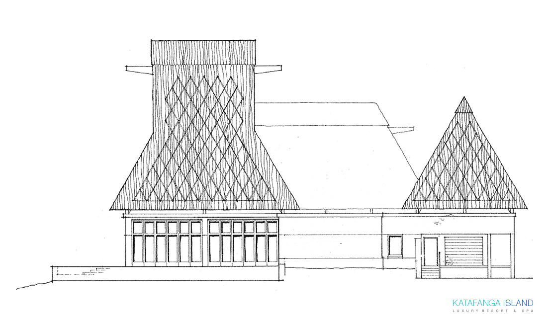 Main Building Elevation - Left View
