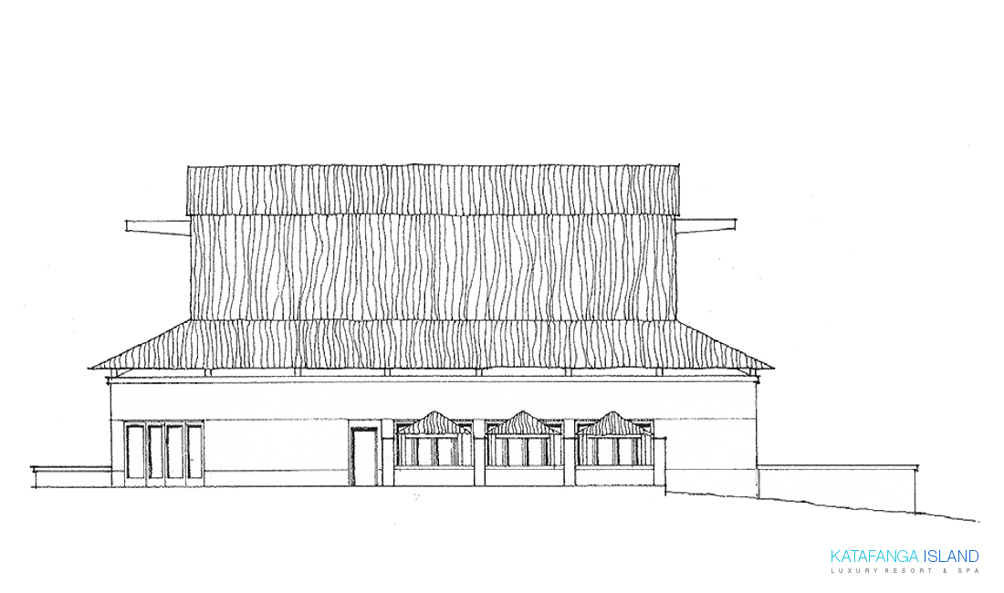 Main Building Elevation - Right View