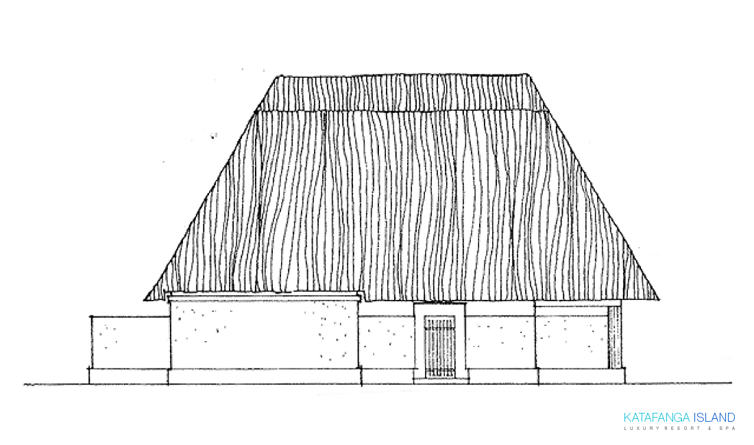 Villa Plan View - Elevation Front