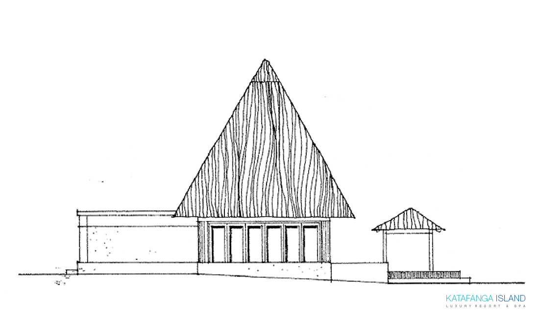 Villa Plan View - Elevation Right